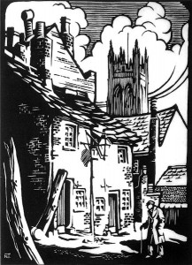 Ashton Under Lyne Woodcut 1932